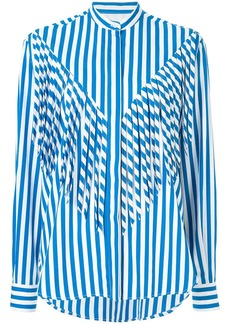 MSGM fringe striped shirt