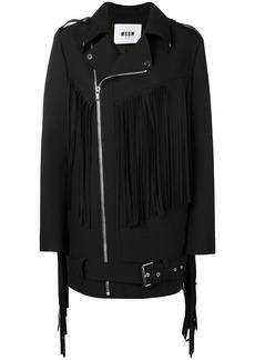 MSGM fringed coat