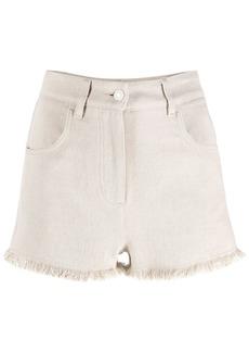 MSGM fringed denim shorts