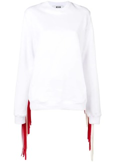 MSGM fringed sweatshirt