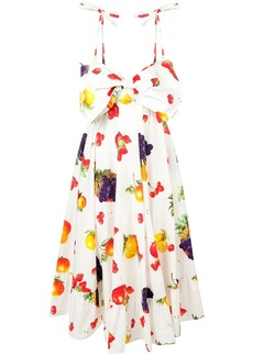 MSGM fruit print flared dress