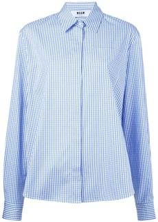 MSGM gingham check shirt