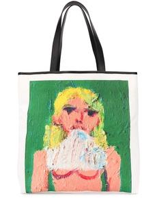 MSGM graphic print tote bag