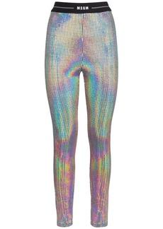 MSGM Holographic Mirror Leggings