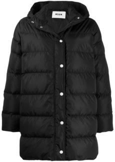 MSGM hooded padded coat