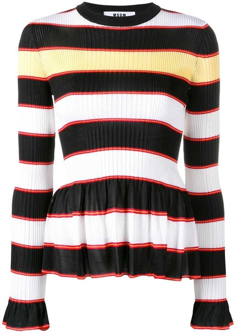 MSGM horizontal stripes jumper
