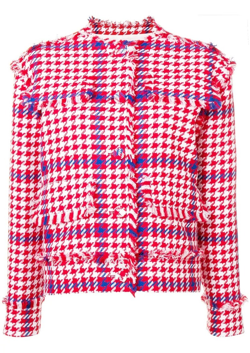 MSGM houndstooth cropped jacket