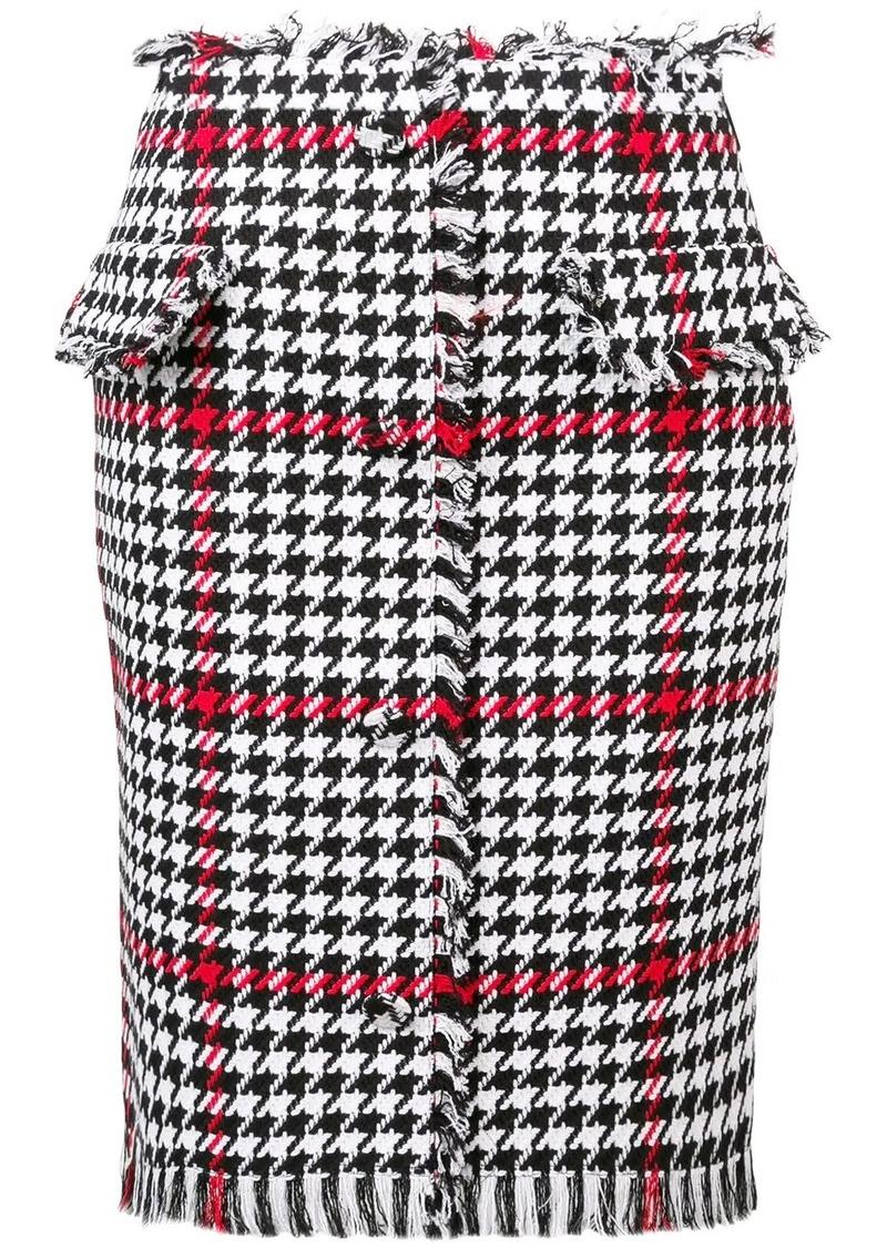 MSGM houndstooth pattern skirt
