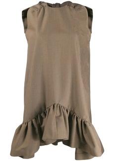 MSGM houndstooth print bow dress