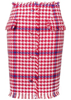 MSGM houndstooth print pencil skirt