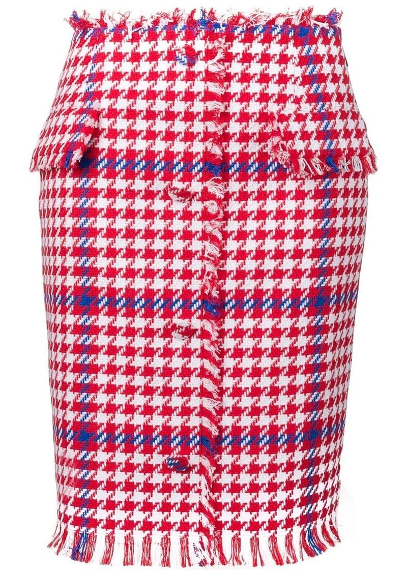 MSGM houndstooth print pencil skirt