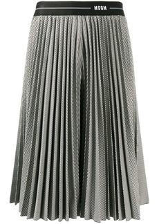MSGM houndstooth print pleated skirt