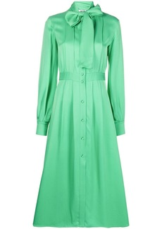MSGM houndstooth-print shirt dress