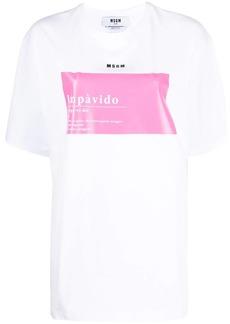 MSGM Impavido-print boxy T-shirt