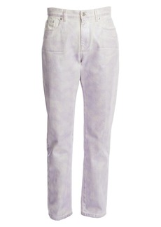 MSGM Iridescent High-Rise Straight-Leg Jeans