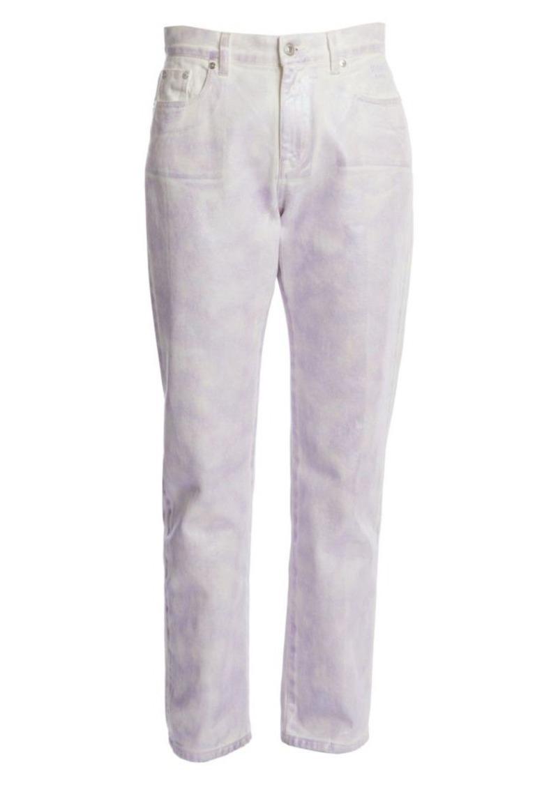 MSGM Iridescent Straight-Leg Jeans