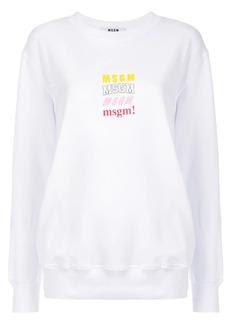 MSGM logo chest print sweatshirt