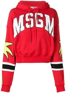 MSGM logo hooded sweatshirt