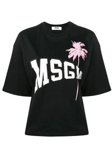 MSGM logo palm tree T-shirt