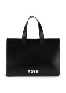 MSGM logo print tote bag