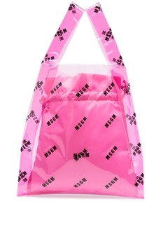 MSGM logo-print transparent tote bag