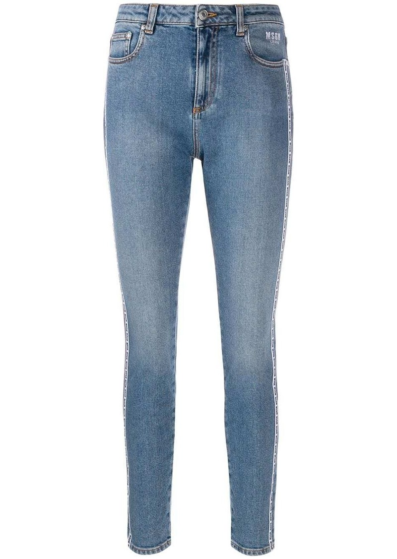 MSGM logo skinny jeans