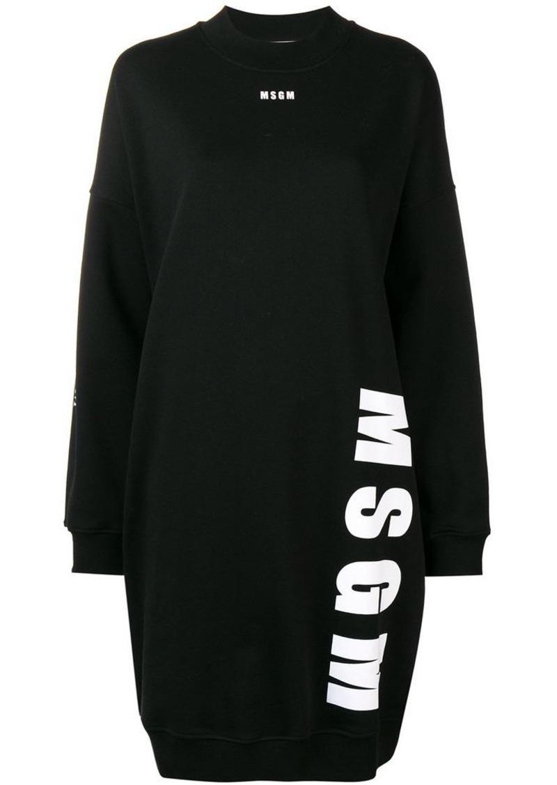 MSGM logo sweatshirt dress