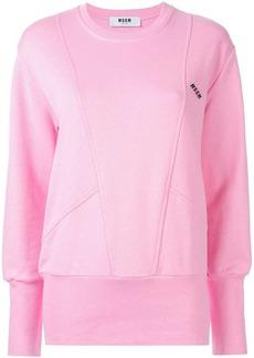 MSGM longline logo print sweatshirt