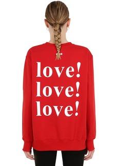MSGM Exclusive Love Print Jersey Sweatshirt