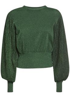 MSGM Lurex Sweater W/ Balloon Sleeves