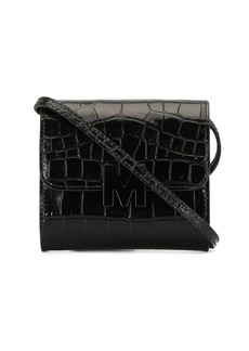 MSGM M crocodile-embossed mini crossbody bag
