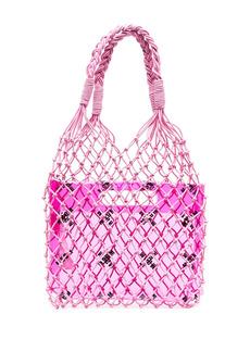 MSGM mesh tote bag