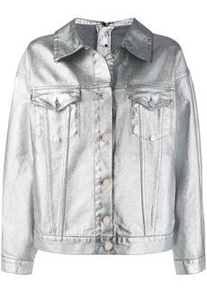 MSGM metallic denim jacket