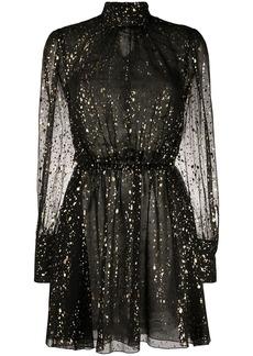 MSGM metallic detail dress