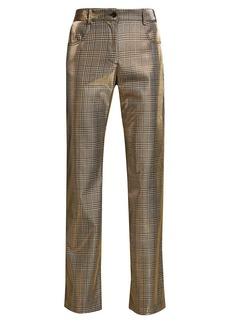MSGM Metallic Plaid Trousers
