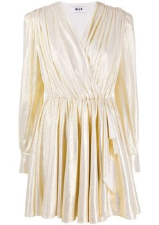 MSGM metallic short dress