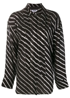 MSGM metallic striped shirt