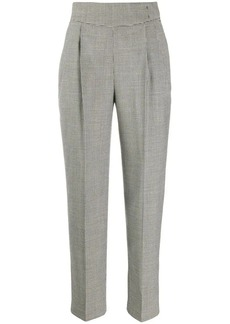 MSGM micro houndstooth high-waisted trousers