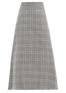 MSGM A-line checked midi skirt