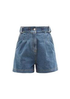 MSGM Adjustable-waist denim shorts