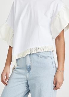 MSGM Asymmetric Hem T-Shirt