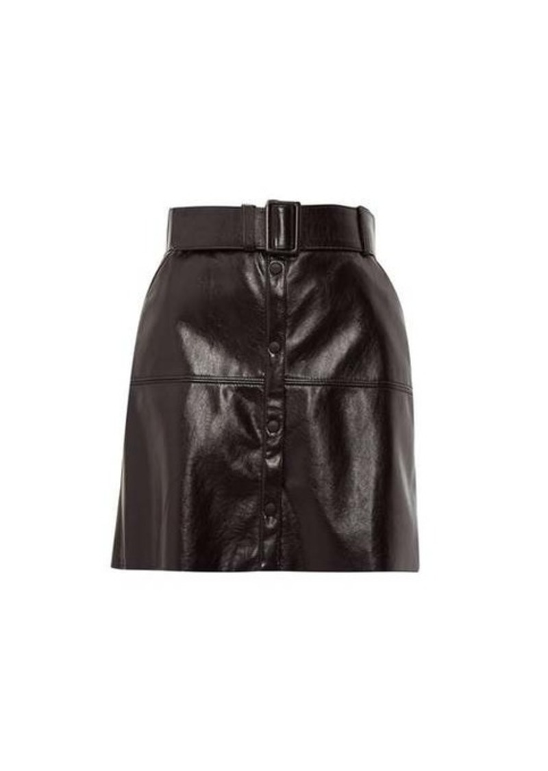 MSGM Belted faux-leather mini skirt