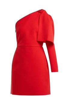 MSGM Bow-detail crepe mini dress