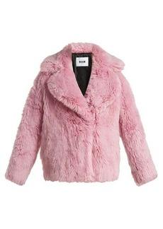 MSGM Cropped faux-fur jacket
