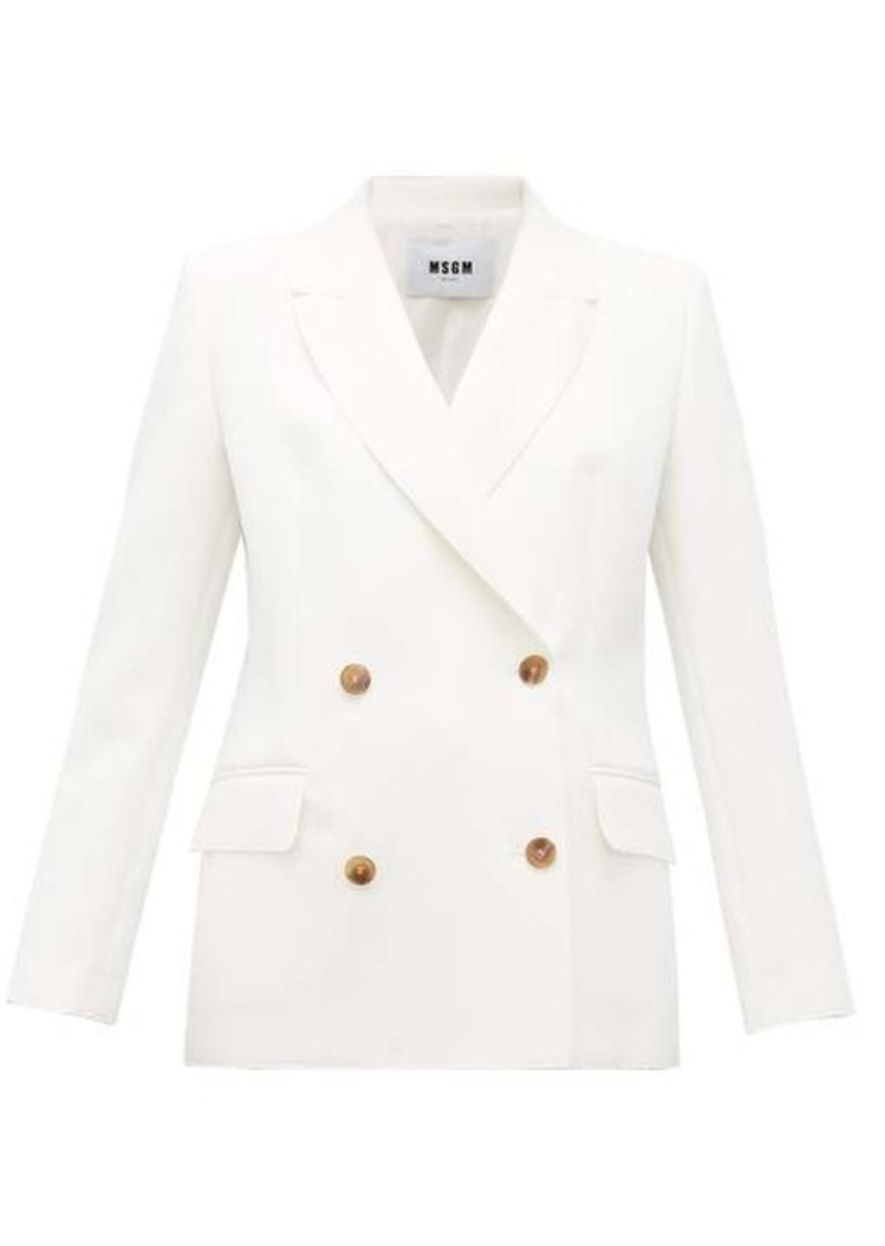 MSGM Double-breasted crepe jacket