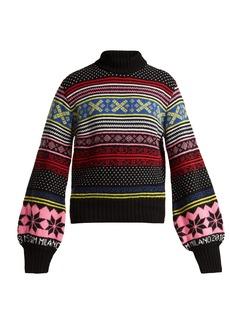MSGM Fair Isle wool-blend sweater