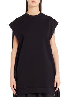 MSGM Fringe Detail Sweatshirt Dress