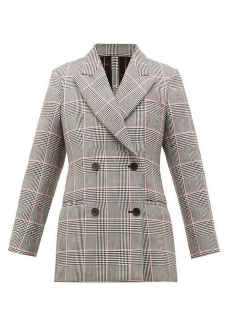MSGM Glen-checked cushioned-twill blazer