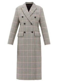 MSGM Glen-checked cushioned-twill double-breasted coat