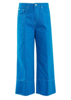 MSGM High-rise wide-leg cropped jeans